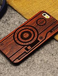 abordables -Funda Para Apple iPhone 6 iPhone 6 Plus Diseños Funda Trasera Caricatura Dura De madera para iPhone 6s Plus iPhone 6s iPhone 6 Plus