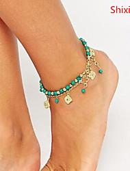abordables -Brazalete tobillo - Diamante Sintético Lujo, Diseño Único, Europeo Dorado Para Regalos de Navidad / Diario / Casual / Mujer