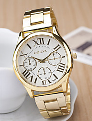 cheap -Couple's Round Dial Case Leather Watch Brand Fashion Quartz Watch Cool Watches Unique Watches