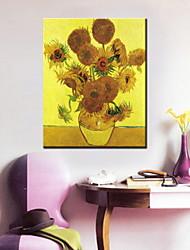 pitture a olio di girasole uno schermo moderno tele dipinte a mano pronta per essere appesa