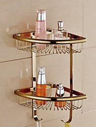 Shower Basket Bathroom Gadget / Chrome Brass /Contemporary