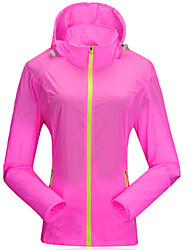 Women's Hiking Jacket Outdoor Waterproof Quick Dry Windproof Ultraviolet Resistant Anti-Insect Breathable YKK Zipper Transparent