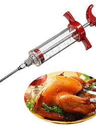 cheap -Marinade Flavour Injector Syringe Sauce Seasoning Gadget Needle Turkey BBQ Meat