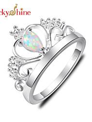 Жен. Детские Массивные кольца Кристалл Камни по месяцу рождения Синтетические драгоценные камни В форме короны Бижутерия Назначение