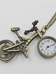 Exquisite Bicycle Shaped Pocket Watch Sweater Necklace