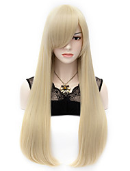 cheap -Wigs for Women Blond Long Hair With Bangs Costume Wigs Cosplay Wigs