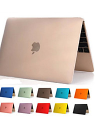 "cheap -Case for Macbook 12"" Transparent Solid Color Plastic Material High Quality Transparent Clear PVC Full Body Hard Case Cover"