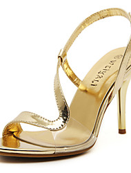cheap -Women's Shoes Stiletto Heel Heels / Ankle Strap Sandals Wedding / Party & Evening / Dress Silver / Rose Gold
