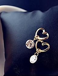 Недорогие -Жен. Серьги-слезки - Сердце Классический, Мода Золотой Назначение Для вечеринок / Повседневные
