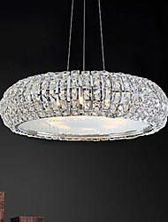 cheap -Chandelier ,  Modern/Contemporary Electroplated Feature for Crystal Crystal Living Room Bedroom Dining Room Study Room/Office