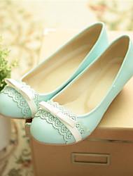 ДЕВУШКА - Обувь на каблуках (Синий/Желтый/Розовый/Бежевый) - С круглым носком