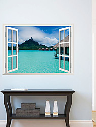 cheap -3D Wall Stickers Wall Decals, Beautiful Landscape PVC Wall Stickers