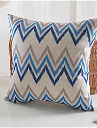 cheap -1 pcs Cotton/Linen Pillow Cover, Striped Country