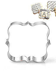 cheap -Square Blessing Frame Shape Cookie Cutters  Fruit Cut Molds Stainless Steel