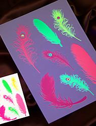 4шт 2016 новый флуоресцентный временную татуировку наклейка картины поддельные татуировки конструкции Taty Tatto ювелирных изделий