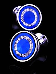 cheap -Black / Blue / 4 Cufflinks Copper Men's Costume Jewelry For