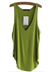 cheap -Women's Plus Size Tank Top - Solid Colored