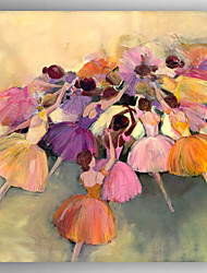 baratos -Pintados à mão Retratos AbstratosModerno 1 Painel Tela Pintura a Óleo For Decoração para casa