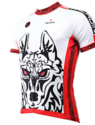 cheap -ILPALADINO Men's Short Sleeve Cycling Jersey - White Cartoon / Animal Bike Jersey, Quick Dry, Ultraviolet Resistant, Breathable Polyester