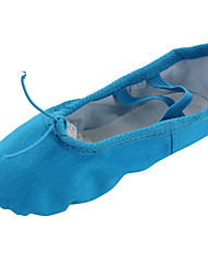 cheap -Women's Belly Shoes / Ballet Shoes / Yoga Canvas Flat Flat Heel Non Customizable Dance Shoes Blue / Indoor