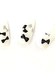 FD-73 Cute Nail Decal Black Color Bow Shape 1Set for Sexy Ladies Nail Decor Japan Korea Style Nail Stickers Wholesale