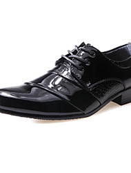 Men's Shoes PU Spring Fall Oxfords Lace-up For Wedding Casual Office & Career Party & Evening White Black