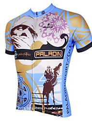billige -ILPALADINO Herre Kortærmet Cykeltrøje - Grå Cykel Trøje, Hurtigtørrende, Ultraviolet Resistent, Åndbart Polyester