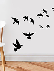 Animals Wall Stickers Plane Wall Stickers Decorative Wall Stickers,Vinyl Material Removable / Re-Positionable Home Decoration Wall Decal