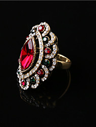 Alloy Vintage Gemstone Statement Rings Party/Daily 1pc Elegant Style