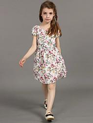 cheap -2105 nova kids clothes summer baby Girl dress flower patchwork Maxi tutu dresses kids clothes children clothing