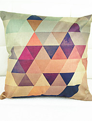 Chromatic Geometry Decorative Pillow Cover(17*17 inch)