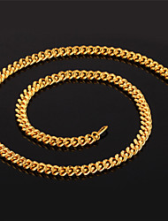 cheap -Necklace Chain Necklaces Jewelry Halloween / Party Adjustable / Rock Gold Plated Gold 1pc Gift