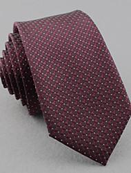 economico -Cravatte - Griglia DI Poliestere - Viola chiaro