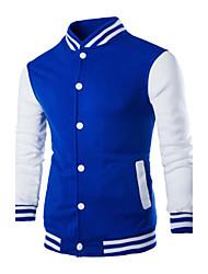 preiswerte -Herrn Einfarbig Alltag Hoodie-Jacke Standard Langarm