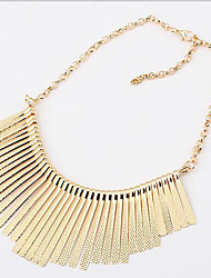 cheap -Women's Choker Necklace Statement Necklace  -  Tassel Fashion European Black Silver Golden Necklace For Party Daily Casual