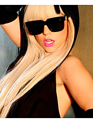 parrucca lady gaga lungo straigt moda bionda donne parrucche