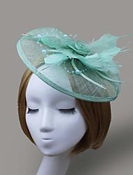 abordables -red de plumas fascinators flores casco femenino estilo clásico