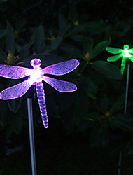 cheap -Pack of 2 Solar Color-Changing Dragonfly Garden Stake Light for Garden Landscape Lighting Pathway Stairway