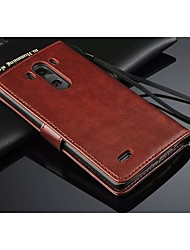 cheap -PU Leather Wallet Pattern Full Body Case with Card Holder for LG G3(Assorted Color)