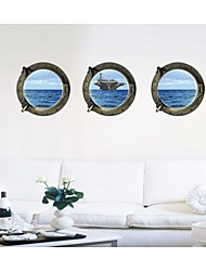 The Vast Ocean Ships Wall Stickers