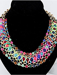 Women's Statement Necklaces Gemstone Imitation Diamond Alloy Costume Jewelry Jewelry For Party