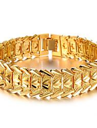 billige -mænds / dames 18k forgyldte kæde med ikke-sten armbånd elegant stil