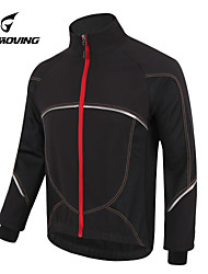 cheap -GETMOVING Cycling Jacket Unisex Bike Jersey Winter Fleece Jacket Top Winter Fleece Bike Wear Waterproof Anatomic Design Fleece Lining