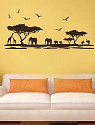 paradis des animaux autocollants mur Stickers muraux de style par les mer pvc stickers muraux