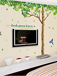 cheap -Oversized Fresh Tree Living Room Bedroom Removable PVC Transparent Film Wall Stickers