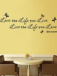 economico -parete in stile decalcomanie adesivi murali di vita l'amore vivo parole inglesi&cita adesivi murali in pvc
