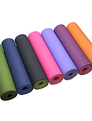 cheap -Extra Thick Slip Resistant Eco-Friendly Tpe Yoga Pilates Mat (6mm Intranet Reinforcement)