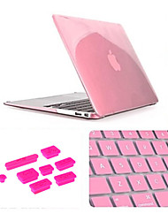 "cheap -Case for MacBook Air 11.6"" Solid Color Plastic Material 3 in 1 Matte Case with Keyboard Cover and Silicone Dust Plug"