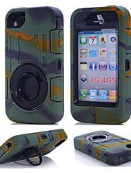 Per Custodia iPhone 7 Custodia iPhone 7 Plus Acqua / Dirt / Shock Proof Supporto ad anello Custodia Integrale Custodia Tinta unita