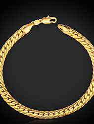 cheap -Men's Chain Bracelet Vintage Bracelet Bracelet Fashion Classic Personalized Costume Jewelry Platinum Plated Gold Plated Gold Filled Alloy